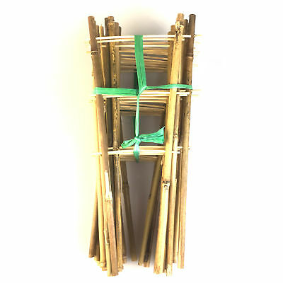 Natural Color Bamboo trellis for climbing plants,13.8-Inch,6/12/24/50pcs