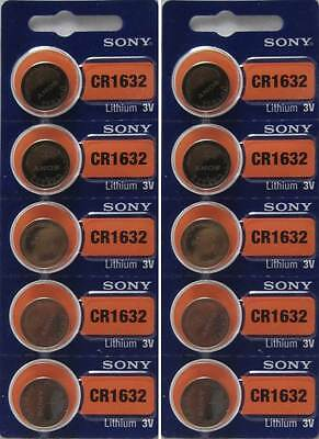 10pcs Authentic Sony ECR1632 1632 Lithium 3v Batteries CR1632