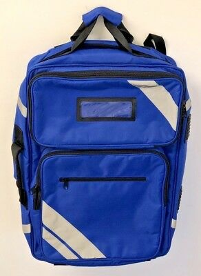 Paramedic Blue Trauma Response Bag, Oxygen Compartment, A.E.D Compartment