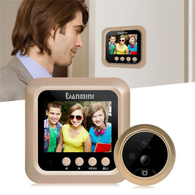 "2.4"" LCD Color Video Peephole Viewer Home Security System Door Camera Monitor"