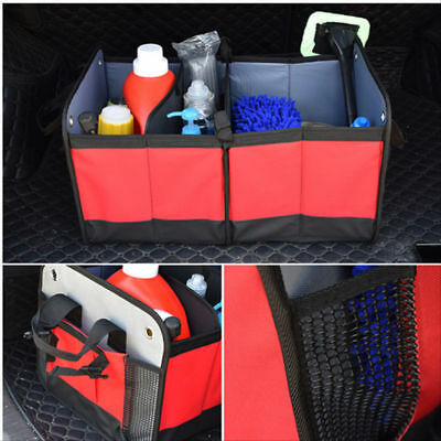 2-in-1 Car Boot Organiser Tidy Heavy Duty Collapsible Foldable Storage UKDC