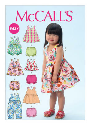 McCall's Sewing Pattern 6944 Toddlers Girls ½-4 Criss-Cross Top Dresses Romper