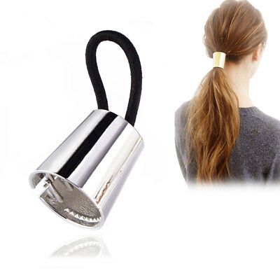 Cone Wrap Clip Tie Punk Gothic Accessory Metal Retro Ponytail Holder Hair Band
