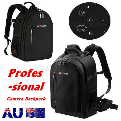 K&F Concept Waterproof Camera Backpack Large Bag DSLR Case for Canon Sony AU
