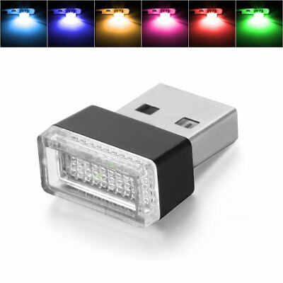Wireless USB Flexible Neon Ambient RGB LED light For Car Interior Decoration