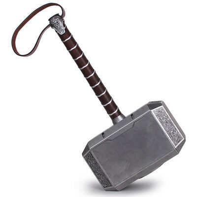 1:1 Avengers Thor Hammer Resin Full Size Mjolnir Replica Cosplay Props US Ship