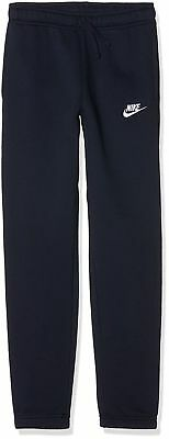 Nike Official Boy's Girl's Fleece Lined Soft Joggers Sweatpants - Navy Blue