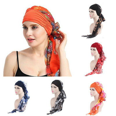Women Turban Beanie Chemo Cancer Cap Muslim Hijab Head Wrap Scarf Bandana Hat AU
