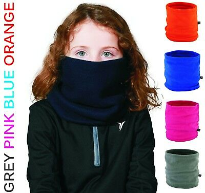 Youth Kids Children Boys Girls Winter Fleece NECK WARMER Tube Scarf Snood Caps