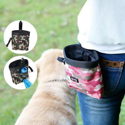 Camouflage Pet Dog Puppy Training Pouch Walking Treat Snack Bag Dispenser Clip F