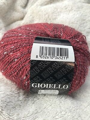 "Filatura di Crosa Timo #13 Red Yellow Orange Ribbon Yarn 50gr 1//2/"" wide x 66yds"