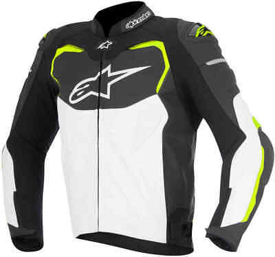 Alpinestars GP Pro Leather Motorcycle Jacket Blk/Wh/Fluo ***Now £199.99**