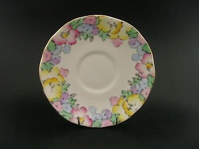 China Replacement Crown Staffordshire Vintage Saucer Floral F14910 England c1930