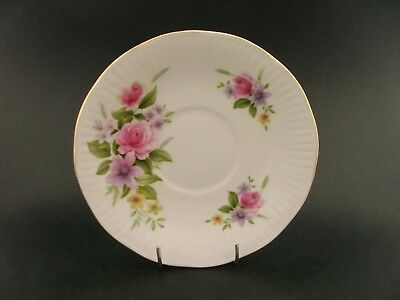 China Replacement Elizabethan Floral Roses Vintage Saucer England c1960s