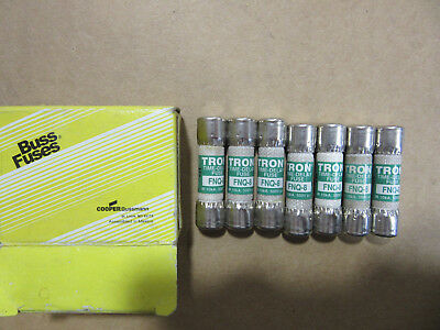 (7) Bussmann FNQ-8 Time Delay Fuses 8A 500V or less NEW!!! Free Shipping