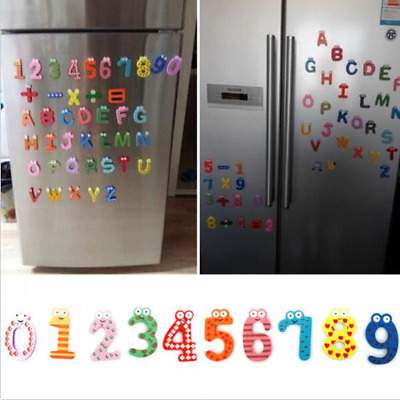 Wood Cute Fridge Magnet Alphabet Animal Number Early Educational Kids Baby Toy U