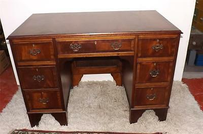 Desk mahogany feather bound small one piece Edwardian desk stunning quality item