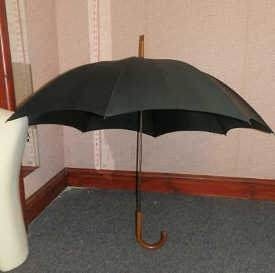 Vintage/Antique Gents Kendall Umbrella with gold collar Embossed S.G.J