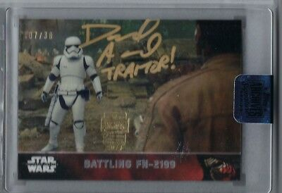 David Acord FN-2199 2018 Topps Star Wars Archives Auto Traitor Inscription 1/1?