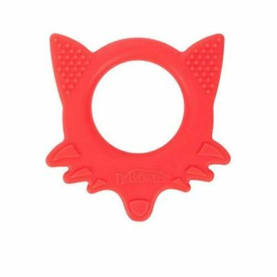 Dr Brown's Flexees Friends Fox Teether - 3m+ 1 2 3 6 12 Cases
