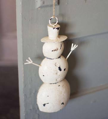 Cast Iron Snowman Door Hanger with Hanging Twine