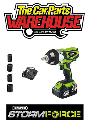 """Draper Storm Force 20v Cordless 1/2"""" Impact Wrench Gun 01031 FAST AND FREE"""