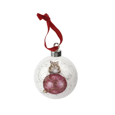 Wrendale Christmas Bauble Royal Worcester Not a Creature was Stirring Mouse