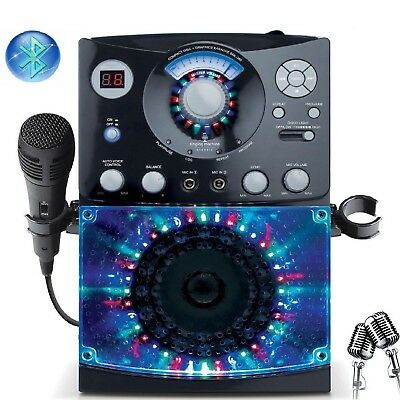 KARAOKE MACHINE SYSTEM Bluetooth Music Player CD/G Audio Home Singing Microphone