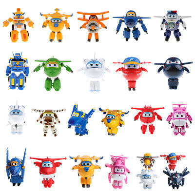 Toy Characters Super Wings Jett Donnie Dizzy Transforming Robot Plane 1/4pcs