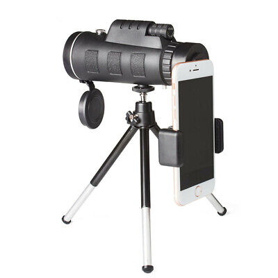 Monocular Telescope 40x60 Zoom Universal Clip, Tripod and Case for Smart Phone