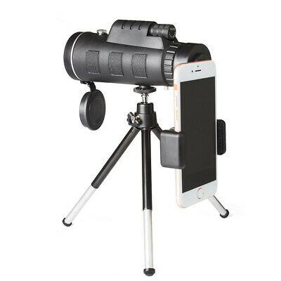 NEW Monocular Telescope 40x60 Zoom Universal Clip Tripod and Case Smart Phone