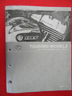 Harley Davidson 2014 TOURING Models PARTS CATALOG  99456-14A