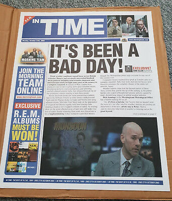 R.E.M. ~ In Time ~ Rare 2003 PROMOTIONAL ONLY Newspaper ~ FREE UK SHIPPING