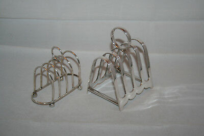 Two Vintage Antique Silver Plated EPNS Toast Racks