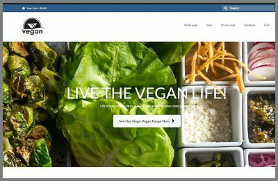 Fully Stocked VEGAN FOODS Website Business|FREE Domain|Hosting|Traffic