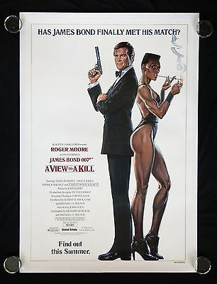 A View To A Kill Rolled Original One Sheet Movie Poster James Bond 007 On Linen