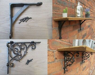 PAIR OF Shelf Support Metal Cast Iron Bracket Scaffold Board Brackets