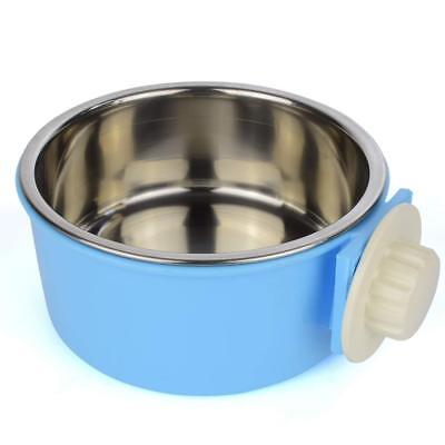 Pet Bowl Water Food Round Bowls Dog Cat Hanging Removable Cage Feeding Stations