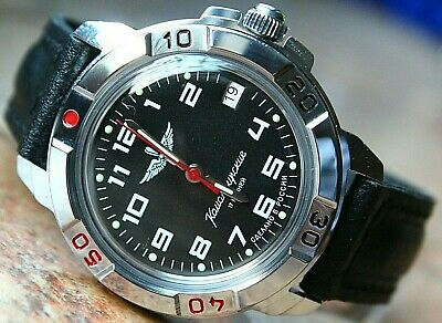 Vostok Komandirsky Military Wrist Watch # 431941 NEW