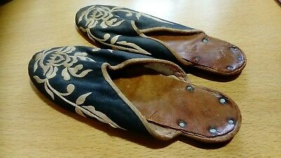 Antique Chinese silk slippers