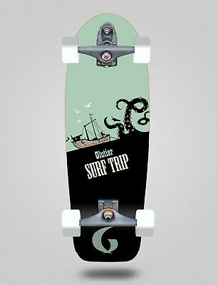 Surf skate GLUTIER with T12 Trucks. Surfskate Boat trip 30,5