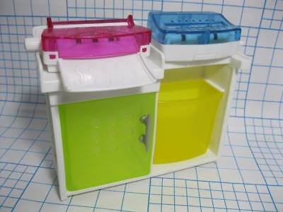 Barbie doll Glam Home My Fancy Life Office Furniture-PRINTER STAND RECYCLE BIN
