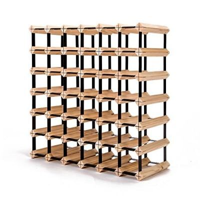 Timber Wine Rack for 42 Bottles High Quality Wood Easy to Assemble Safe Durable