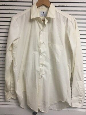 Vtg 1960's Arrow Fenway Club 100% Sanforized Cotton Shirt Union Made USA 15/34