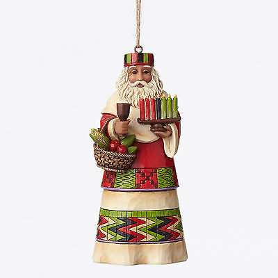 Jim Shore*AFRICAN SANTA AROUND WORLD ORNAMENT*New*NIB*Christmas*AFRICA*4047790