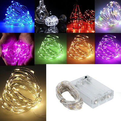 Fairy Lights Battery Powered Waterproof 20/30/40/50/100 LED String for Christmas