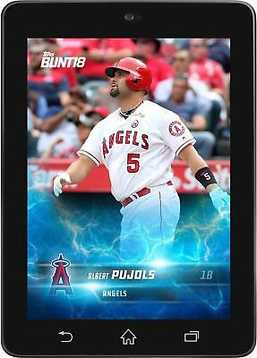 Topps BUNT Albert Pujols LIGHTNING Offseason Base 2018 [DIGITAL CARD]