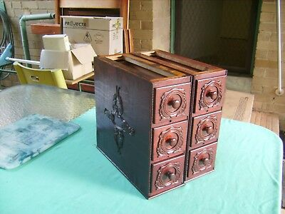 """6 X ANTIQUE SINGER""""SEWING MACHINE DRAWERS & CRADLES in EXCELLENT CONDITION 1931"""