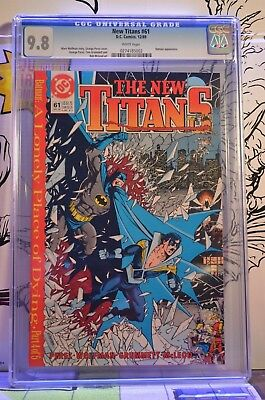 New Titans #61 CGC 9.8 Batman & Nightwing appearance Teen low pop 1:31 no higher