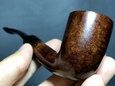 Road Town Dublin Halfbent Style Briar wood craft pipe--- unsmoked